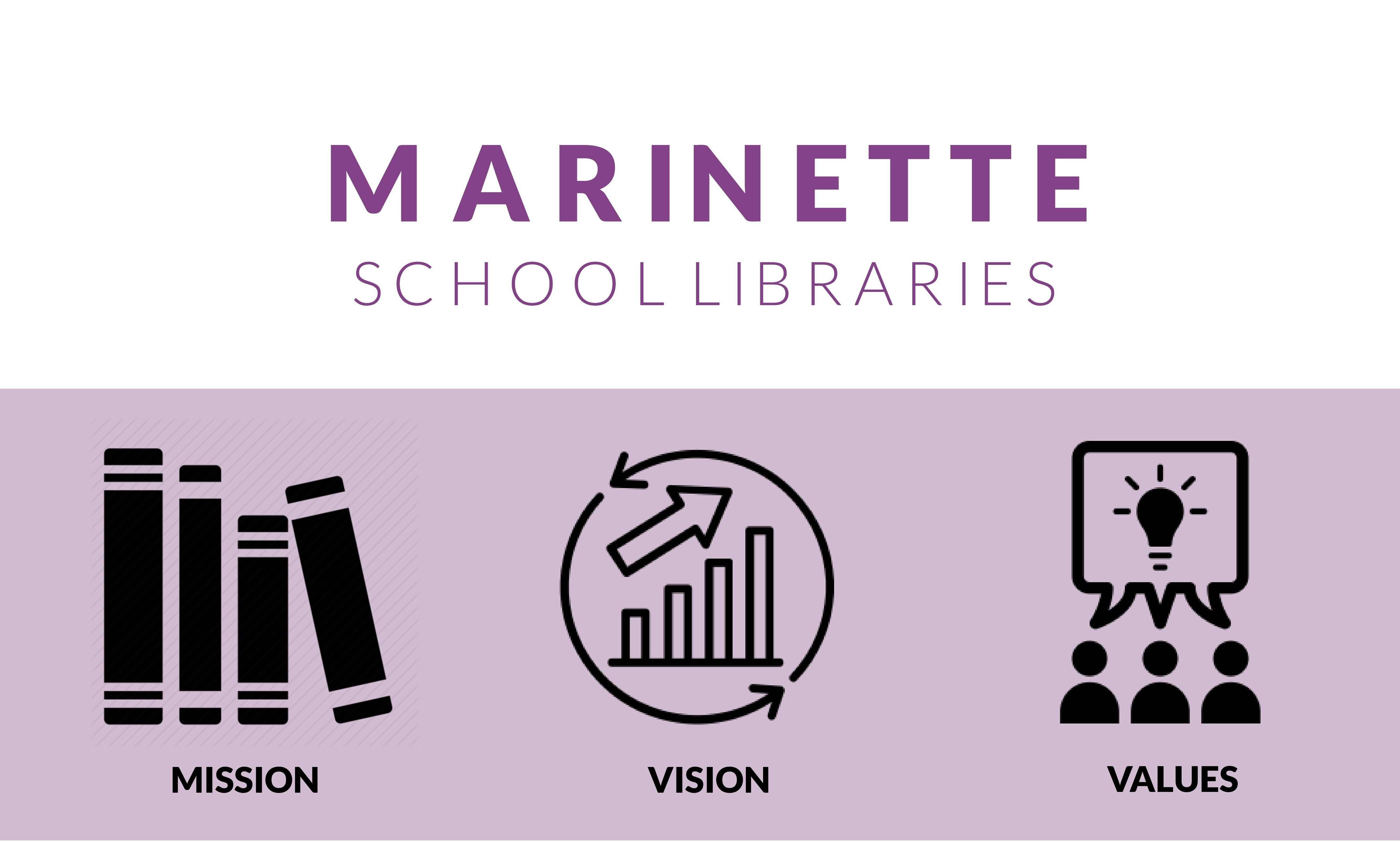 Marinette School Libraries Header